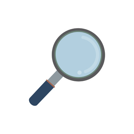 Magnifying glass isolated graphic illustration Stock Photo