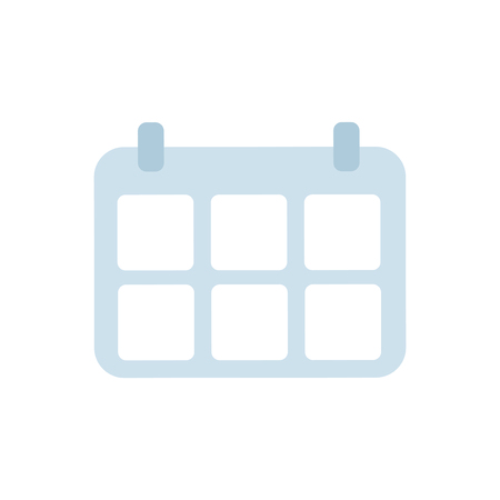 Blue Calendar isolated graphic illustration Banco de Imagens