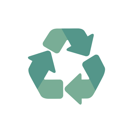 Green triangular recycle icon graphic illustration Stock Photo