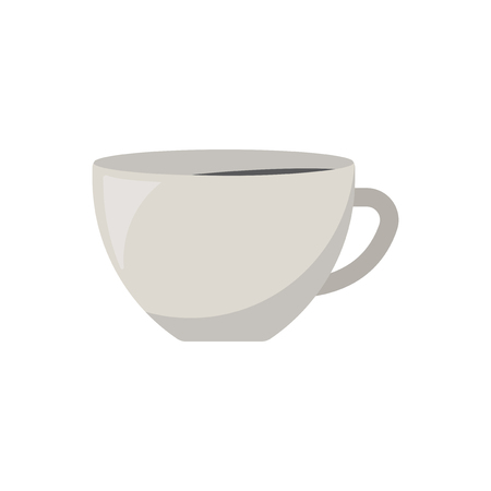 White drinking cup graphic illustration
