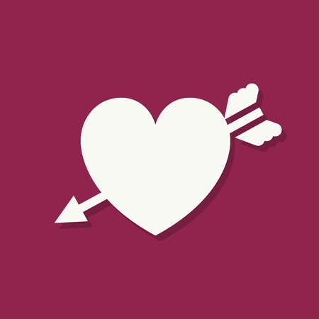 Heart shape Valentines day icon 版權商用圖片