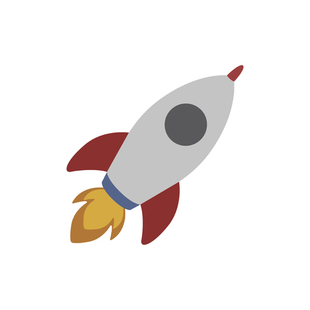 White space rocket flying isolated graphic illustration 版權商用圖片 - 105410253