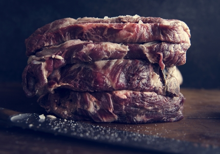 Beef steak food photography recipe idea