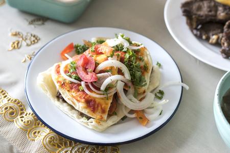 Delicious dish for a Ramadan feast Stock Photo