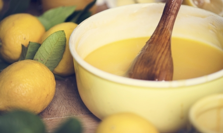 Lemon curd food photography recipe idea Banque d'images - 105411152