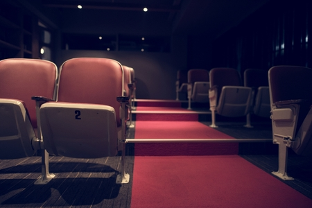 Empty rows in a movie theatre Stock fotó
