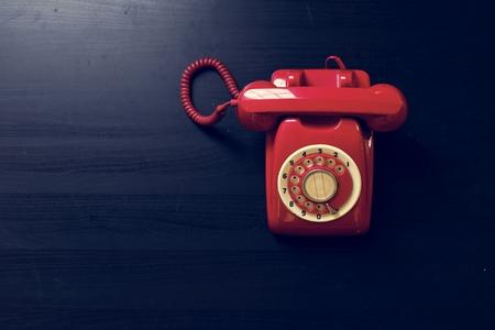 Antique rotary dial retro home phone 写真素材
