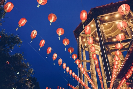 Celebration of Chinese lantern festival 写真素材