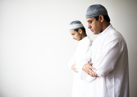 Muslim prayers in Qiyaam posture