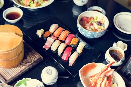 Japanese dining sushi healthy food 스톡 콘텐츠 - 106350266