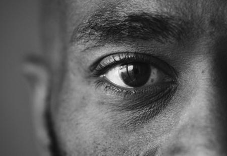 Closeup of an eye of a man Stock Photo