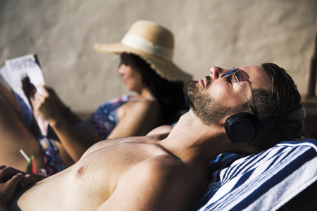 A couple on vacation Stockfoto