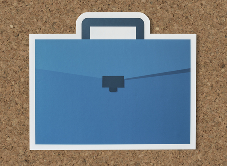 Blue business briefcase bag icon Reklamní fotografie - 106363276