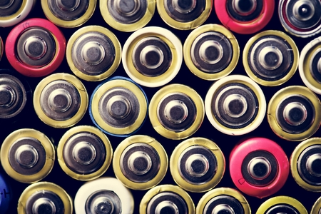 Various of alkaline battery background