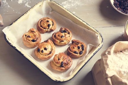 Homemade danish food photography recipe idea Banque d'images - 106364469