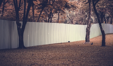 Big fence in an urban park Reklamní fotografie