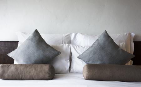 Comfortable bed at a luxury resort Standard-Bild - 106367613