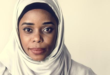 Portrait of beautiful woman in hijab Stock Photo