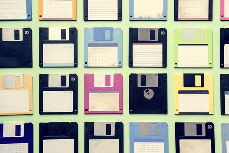 Old school floppy disk drive data storage 写真素材