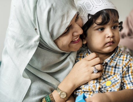 Muslim mother and her son Stock Photo - 106368670
