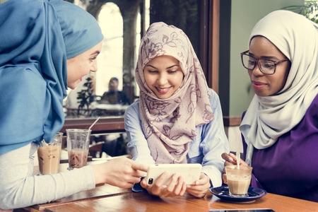 Muslim women hanging out