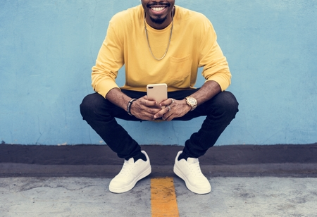A man in the city fashion shoot Reklamní fotografie - 106369067