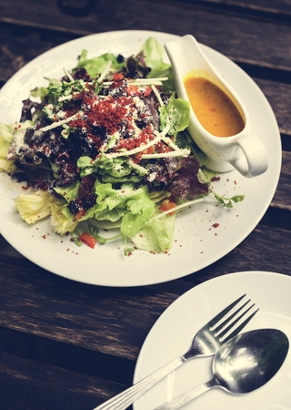 A plate of delicious salad Stock Photo