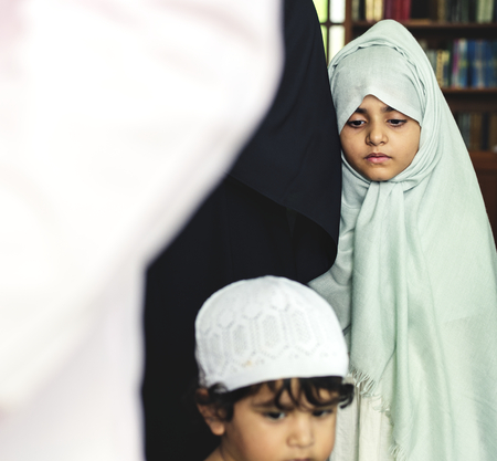 Muslim kids at the mosque