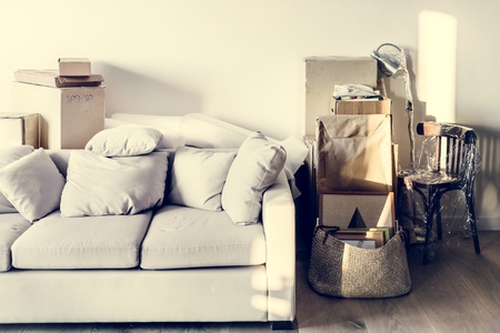 Moving to new house concept Stockfoto