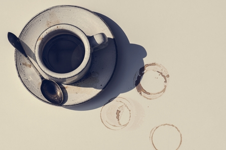 Aerial view of hot coffee Imagens