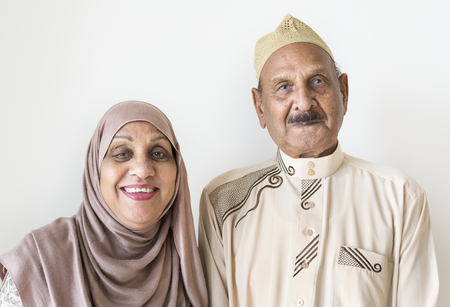Senior Muslim couple at home Stock Photo - 106374326