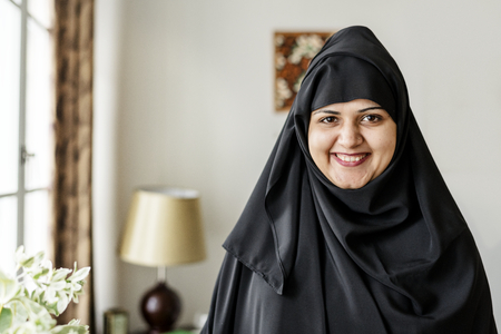 Portrait of a Muslim woman Stock Photo