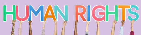 Colorful letters forming the word human rights Stock Photo