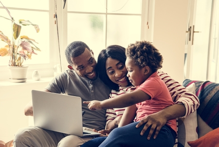 African family spending time together Stock Photo - 107196618