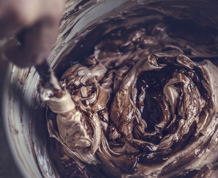 Chocolate frosting food photography recipe idea
