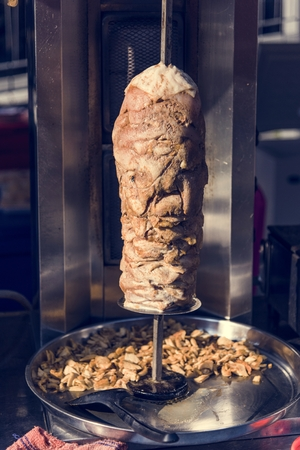 Doner kebab in a roasting spti Stock Photo - 107252611