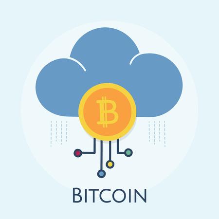 Illustration of bitcoin concept Stock fotó - 108614402