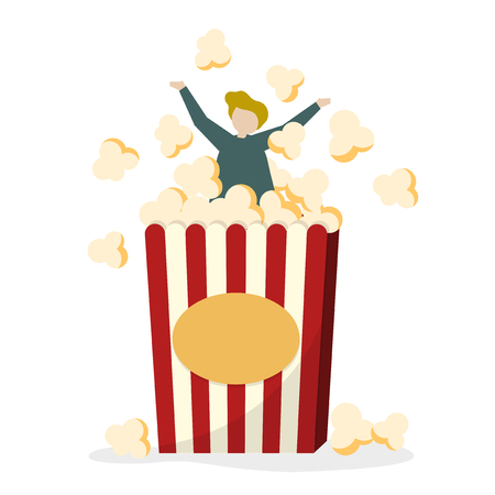 Person in popcorn