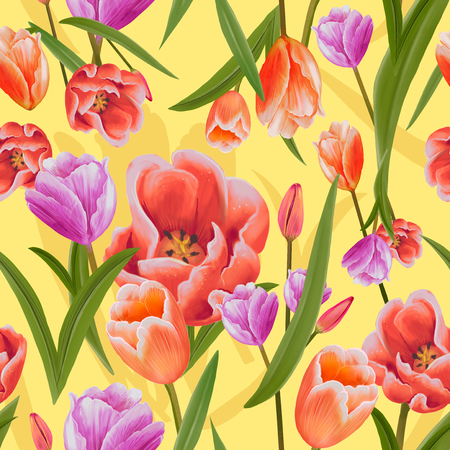 Illustration drawing of Tulips
