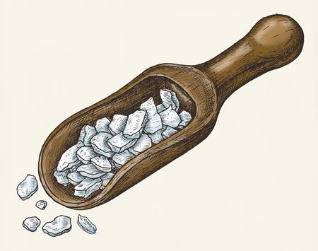 Hand drawn sea salt flakes 版權商用圖片