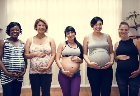 Pregnant women in a class 写真素材