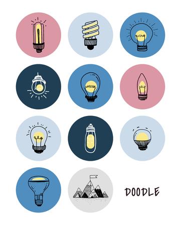 Illustration of a set of light bulbs