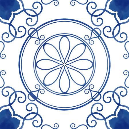 Illustration of tiles textured pattern Stock fotó - 108587474