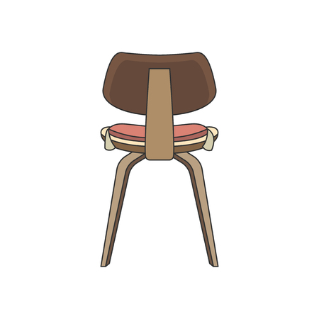 Illustration of the back of a chair Stock Photo