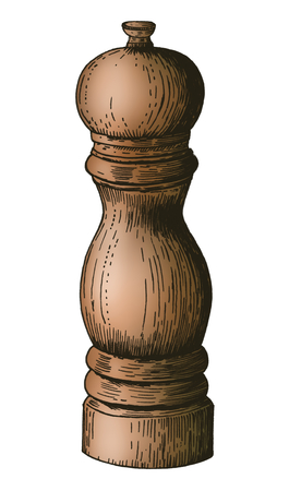 Hand drawn pepper mill 版權商用圖片