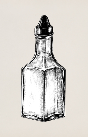 Hand drawn vinegar dispenser Banco de Imagens