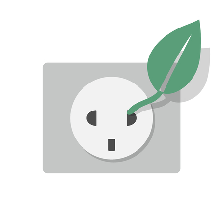 Socket with leaf