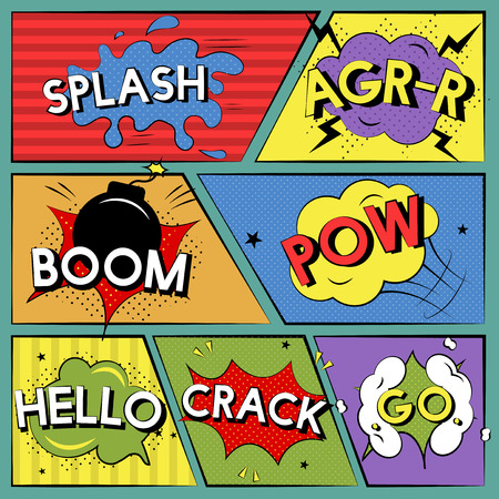 Collection of explosion Illustration Stockfoto - 108586096