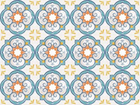 Illustration of tiles textured pattern Stock Photo