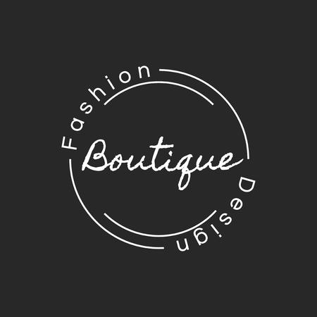 Illustration of boutique shop stamp banner